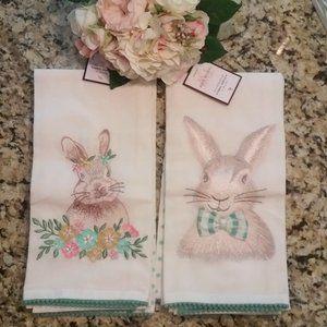 Tabitha Webb 4 Bunny/Polka-dot Kitchen Towels